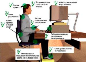 Оптимальные параметры организации рабочего места