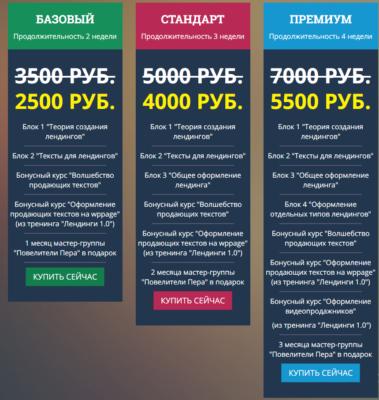 Обучение лендингам у Юлии Волкодав