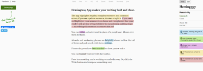 проверка Hemingway App.